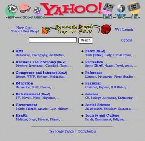 Yahoo! Search - circa 1995