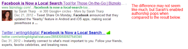 Sarah's enabled authorship stands out leagues above the link below