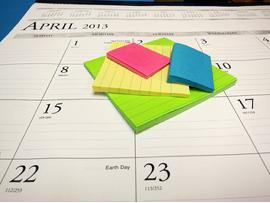 keep a blog calendar