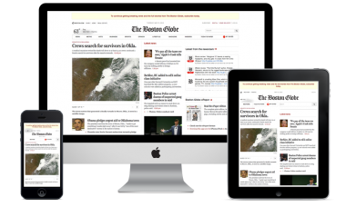 Responsive Web Design Example RWD Boston Globe