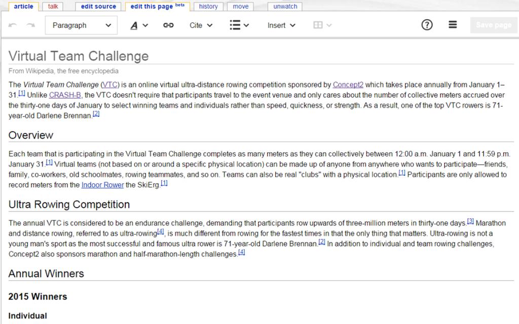 Wikipedia Rich Text Editor[beta]
