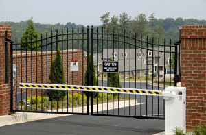 Security Gate at the Entrance of a New Gated Community