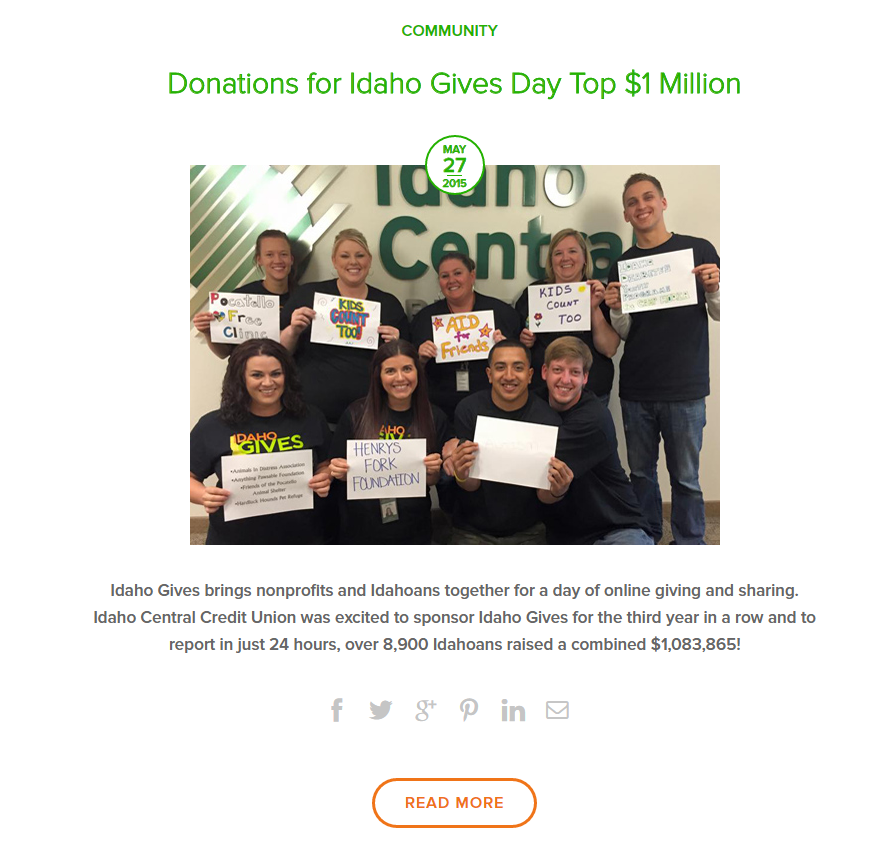 ICCU Idaho Gives Day