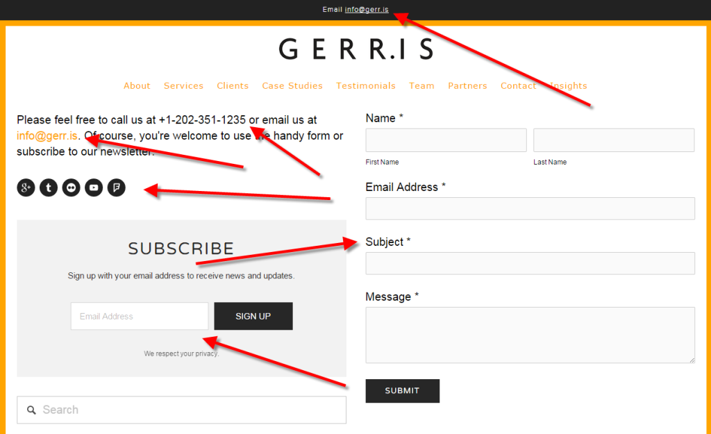 Lots of Gerris Corp Contact Info