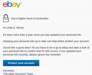eBay Phising Email