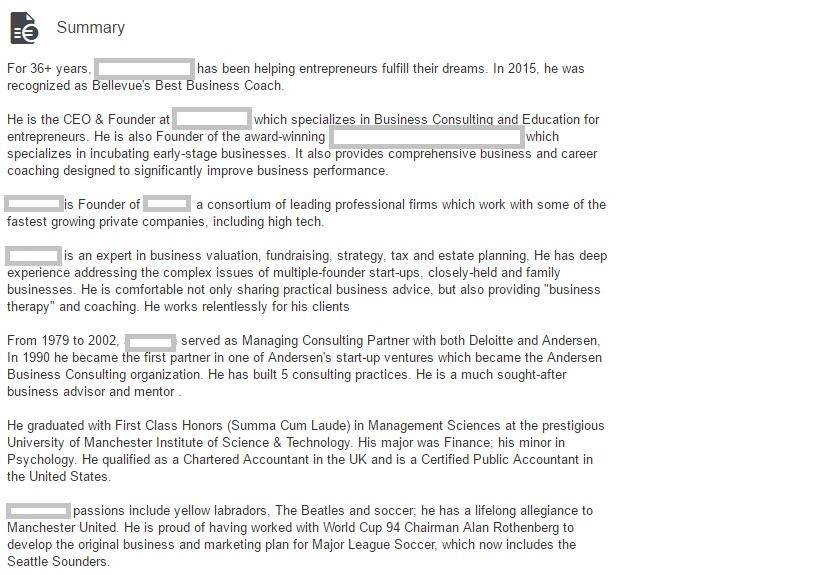 Summary Image - Business Finance Coach - 36+ yrs