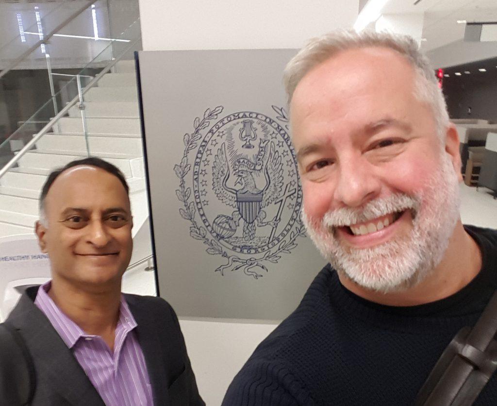 Shashi Bellamkonda and Chris Abraham at Georgetown UniversitySchool of Continuing Studies