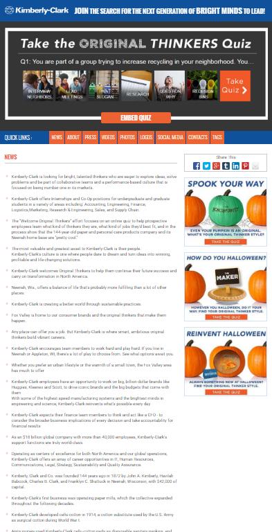 Welcome Original Thinkers Quiz Social Media News Release (SMNR)