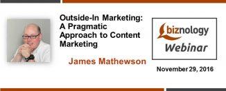 Outside-in Marketing webinar