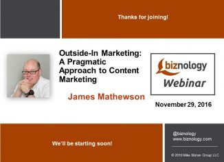 Outside-in Marketing webinar