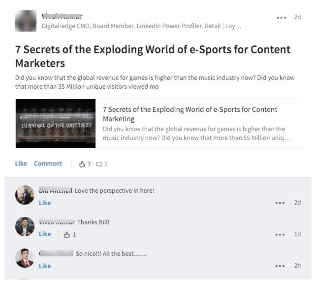 Generic LinkedIn Comments - Mindi Rosser - Biznology