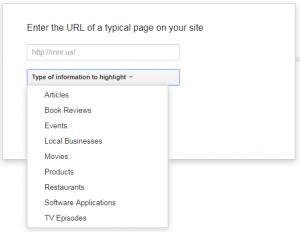 Google Webmaster Tools Data Highlighter