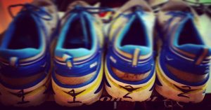 Numbered Hoka One One Bondi 3 maximalist running shoes owned by Chris Abraham on rnnr.us