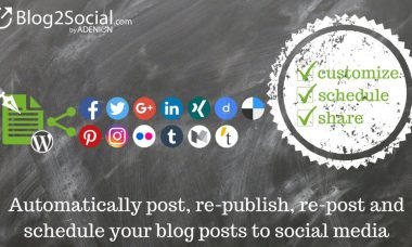 Automatically Share Blog Posts To Social Media With Blog2Social