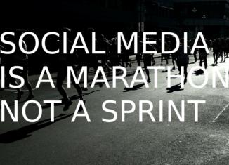 social media marketing is a marathon not a sprint